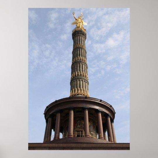 Siegessäule Berlin Poster