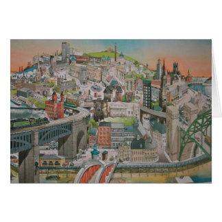 Sieht Vergangenheit und Gegenwart von Newcastle Karte