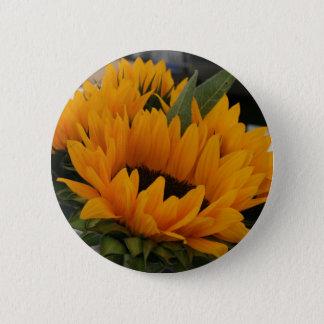 Sieht wie eine Sonnenblume aus Runder Button 5,7 Cm