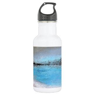 Siena-Türkis-abstrakte Wasser-Flasche Edelstahlflasche