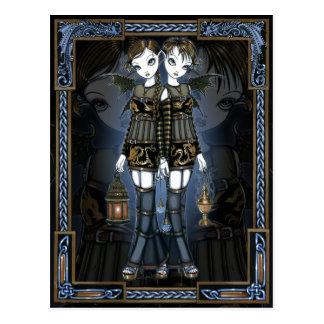 Sienna u. Celeste gotische Postkarte