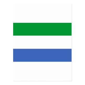 Siera Leoneflagge Postkarte