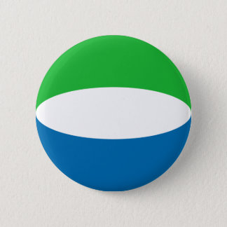 Sierra Leone Fisheye Flaggen-Knopf Runder Button 5,1 Cm