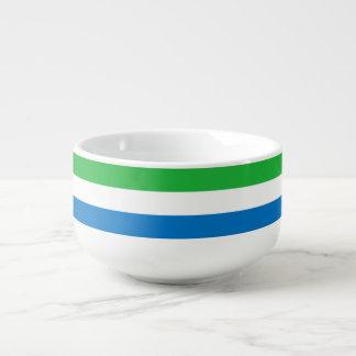 Sierra Leone-Flagge Große Suppentasse