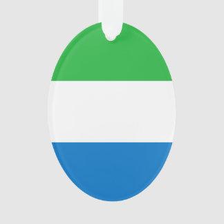 Sierra Leone-Flagge Ornament