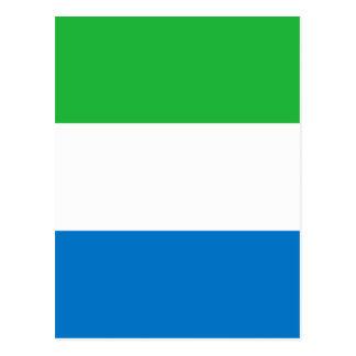 Sierra Leone-Flagge Postkarte