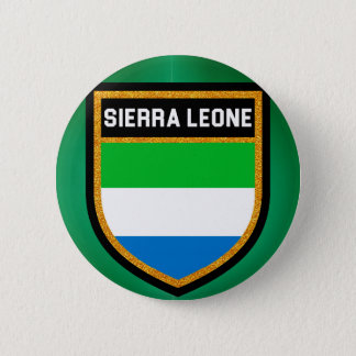 Sierra Leone-Flagge Runder Button 5,1 Cm