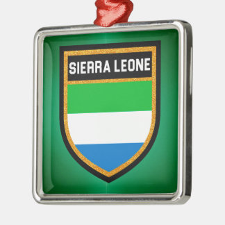 Sierra Leone-Flagge Silbernes Ornament