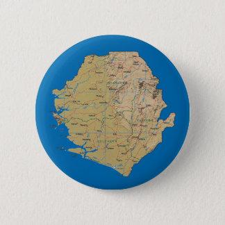 Sierra Leone-Karten-Knopf Runder Button 5,1 Cm