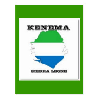 Sierra Leone, Karten-Postkarte (Kenema) Postkarte
