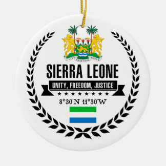 Sierra Leone Keramik Ornament