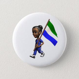 Sierra Leone-Knopf Runder Button 5,7 Cm