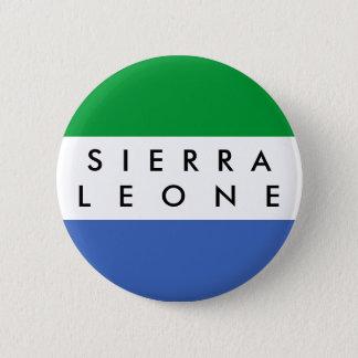 Sierra Leone-Landesflaggenationssymbol-Namentext Runder Button 5,1 Cm