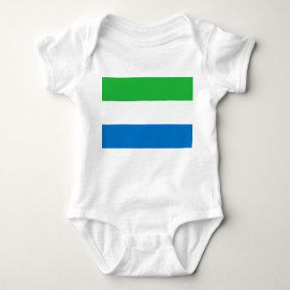 Sierra Leone-nationale Weltflagge Baby Strampler