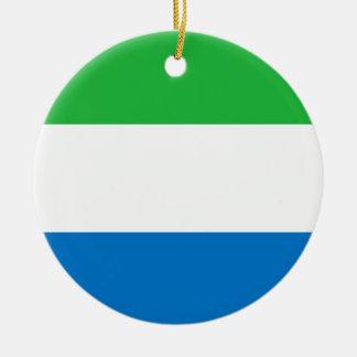 Sierra Leone-nationale Weltflagge Keramik Ornament