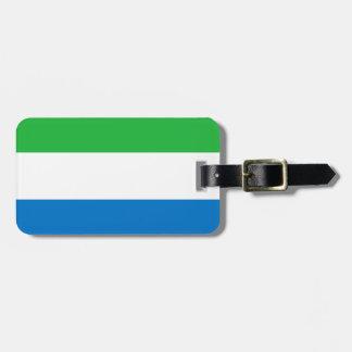 Sierra Leone-nationale Weltflagge Kofferanhänger