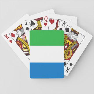Sierra Leone-nationale Weltflagge Spielkarten