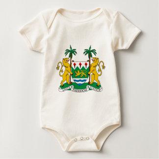 Sierra Leone-Wappen Baby Strampler