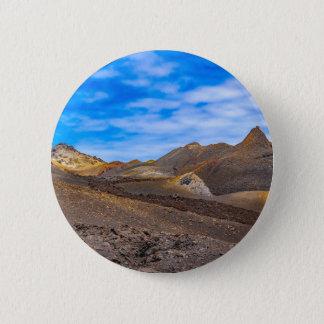 Sierra Negra Landschaft, Galapagos, Ecuador Runder Button 5,1 Cm