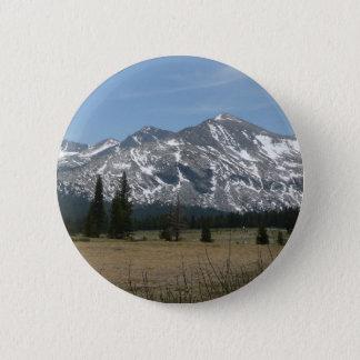 Sierra Nevada-Berge I von Yosemite Runder Button 5,1 Cm