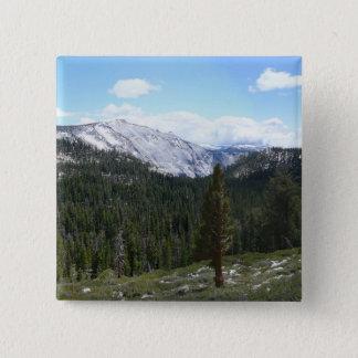 Sierra Nevada-Berge II von Yosemite Quadratischer Button 5,1 Cm