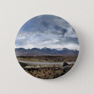 Sierra Nevada-Berge von Owens Tal Runder Button 5,7 Cm