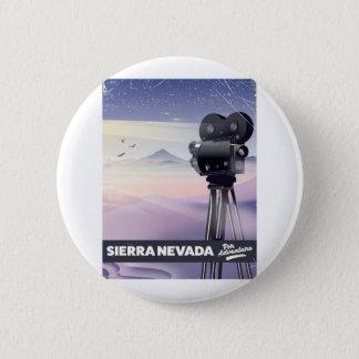 Sierra Nevada-Reiseplakat Runder Button 5,7 Cm
