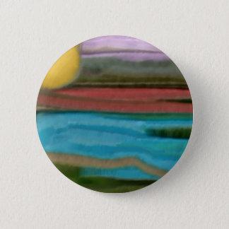 Sierra Sonnenaufgang-abstrakte Kunst Runder Button 5,1 Cm