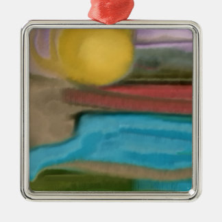 Sierra Sonnenaufgang-abstrakte Kunst Silbernes Ornament