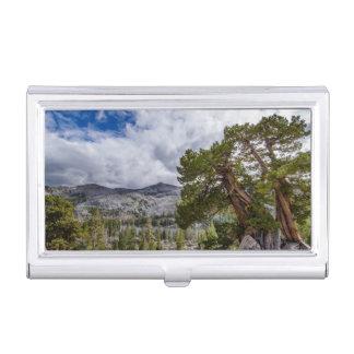 Sierra Wacholderbusch und Immergrün-Bäume Visitenkarten Etui