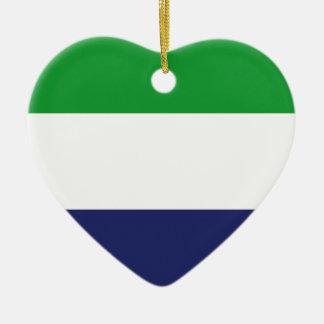 Sierraleoa Flagge Keramik Ornament
