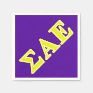 Sigma-Alpha gelbe Epsilonbuchstaben Serviette