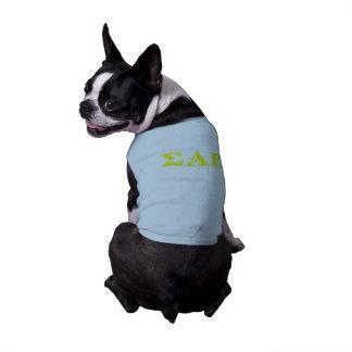 Sigma-Alpha gelbe Epsilonbuchstaben Shirt
