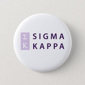 Sigma-Kappa gestapelt Runder Button 5,1 Cm