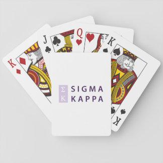 Sigma-Kappa gestapelt Spielkarten