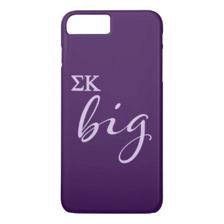 Sigma-Kappa-großes Skript iPhone 8 Plus/7 Plus Hülle
