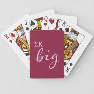 Sigma-Kappa-großes Skript Spielkarten