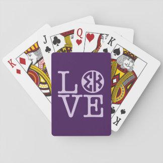 Sigma-Kappa-Liebe Spielkarten