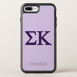 Sigma-Kappa Lil großes Logo OtterBox Symmetry iPhone 8 Plus/7 Plus Hülle