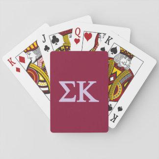 Sigma-Kappa Lil großes Logo Spielkarten