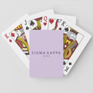 Sigma-Kappa-moderne Art Spielkarten