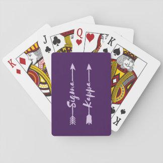 Sigma-Kappa-Pfeil Spielkarten