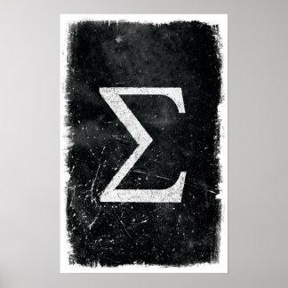 Sigma-Kunst - Mathe-Plakate Poster