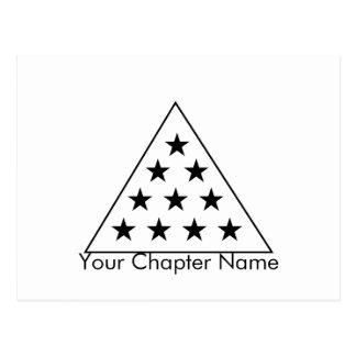 Sigma-PU-Pyramide B+W Postkarte