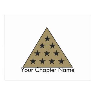 Sigma-PU-Pyramide-Gold Postkarte