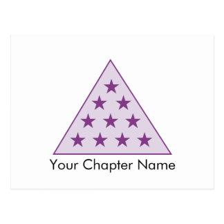 Sigma-PU-Pyramide lila Postkarte
