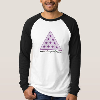 Sigma-PU-Pyramide lila T-Shirt
