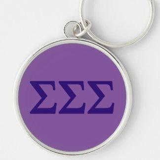 Sigma-Sigma-Sigma Lil großes Logo Schlüsselanhänger
