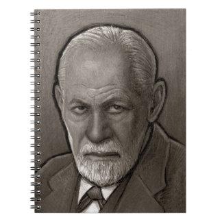 Sigmund- Freudporträt-Notizbuch (80 Seiten B&W) Notizblock