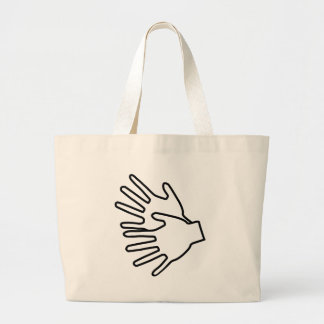 sign language icon bag